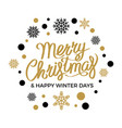 merry christmas happy new year concept vector image