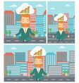 Peaceful businessman doing yoga vector image vector image