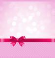 pink bow bokeh vector image