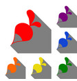 radish simple sign set of red orange yellow vector image vector image