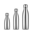 realistic 3d silver empty glossy metal vector image vector image