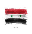 realistic watercolor painting flag syria vector image vector image