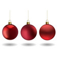 red christmas ball set vector image vector image