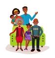 relatives and happy family on sofa symbol vector image vector image