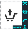 remove shopping cart icon flat vector image