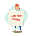 retail sales industry promoters person vector image
