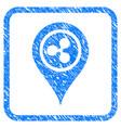 ripple map marker framed stamp vector image vector image