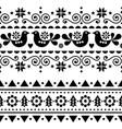 scandinavian christmas folk seamless design vector image vector image