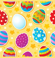 seamless easter topic background vector image