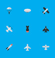 set of simple airplane icons vector image vector image