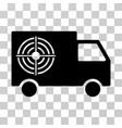 shooting gallery truck icon vector image vector image