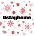 stay home banner coronavirus quarantine vector image