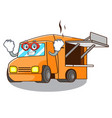 super hero food truck with isolated on mascot vector image