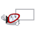thumbs up with board side mirror isolated with the vector image vector image