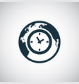 time globe icon for web and ui on white background vector image vector image