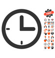 time icon with dating bonus vector image vector image