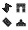 travel art and or web icon in black style vector image vector image