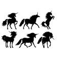 unicorn silhouettes unicorns silhouette vector image