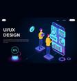 ux ui design concept vector image