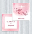 Watercolor save the date design vector image