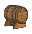 wine beer barrel sketch vector image
