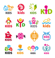 large collection of logos children vector image