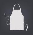 realistic white kitchen apron vector image