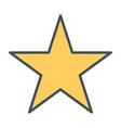 star line icon vector image