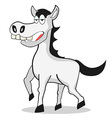 funny white Horse vector image