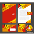 Professional corporate identity red yellow brown vector image