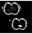 template for wedding vector image