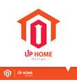 up home icon symbol vector image