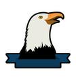 american hawk symbol vector image vector image