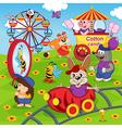 animals in amusement park vector image vector image