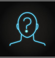 anonymity concept icon in neon line style vector image