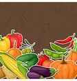 Background design with fresh ripe stylized vector image vector image