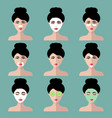 big set of women icons with different vector image vector image