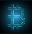 bitcoin binary symbol vector image