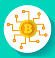 bitcoin icon digital currency symbol vector image