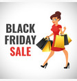 black friday banner template vector image
