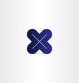blue letter x logotype vector image vector image