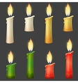 Burning candle collection two sizes vector image vector image