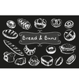 Chalk bakery food set vector image