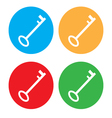 colored Key Icon Set vector image