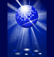dance club party background with disco ball vector image vector image