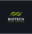dna genetic logo design template vector image vector image