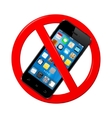 Do not use mobile phone sign vector image vector image