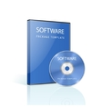 DVD case and disk on white background vector image vector image