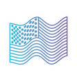 flag united states of america waving in color vector image vector image