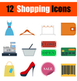 Flat design shopping icon set vector image